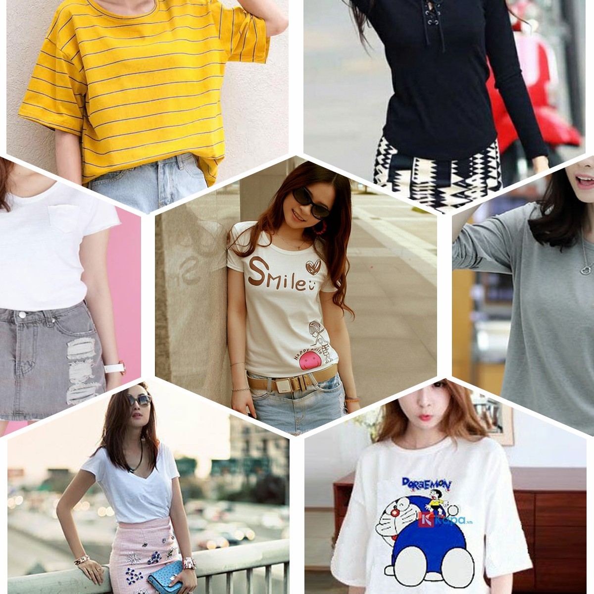 Áo thun nữ đơn giản Hàn Quốc dễ thương nhất
