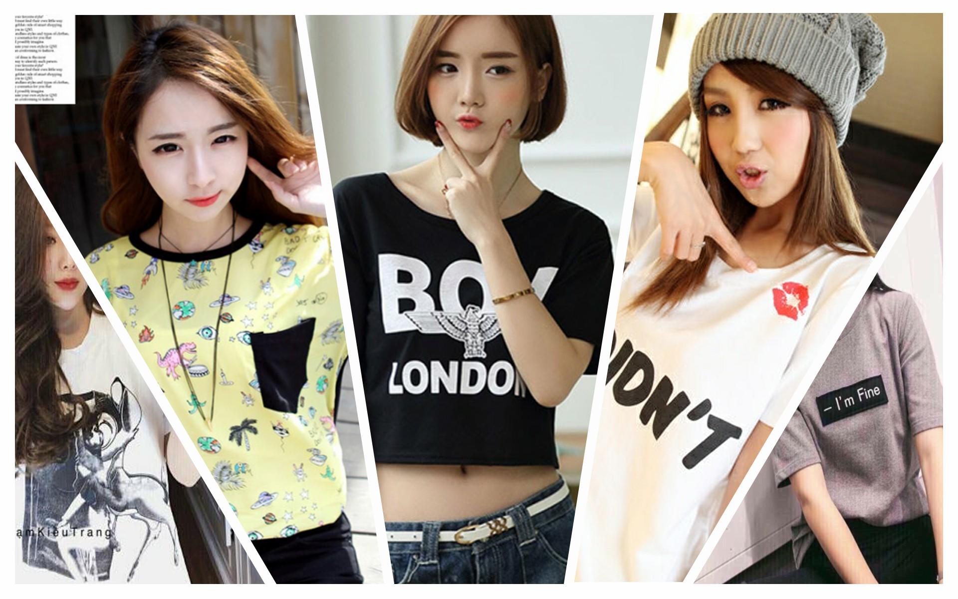 tong hop cac kieu ao thun nu moi nhat de thuong han quoc 2 - Tổng hợp các kiểu áo thun nữ mới nhất Hàn Quốc